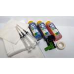 Заправочный набор для цветного картриджа HP 123 и 652 принтеров HP DeskJet 2130, 2620, 2630, 3639, Ink Advantage 1115, 2135, 3635, 3636, 3775, 3785, 3787, 3788, 3835, 4535, 4675, 5075, 5275, 3x100мл